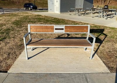 closeup of bench